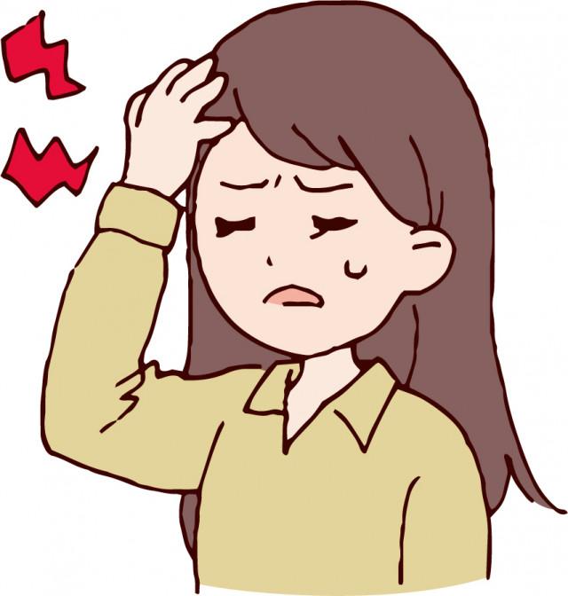 頭痛・偏頭痛のイラスト